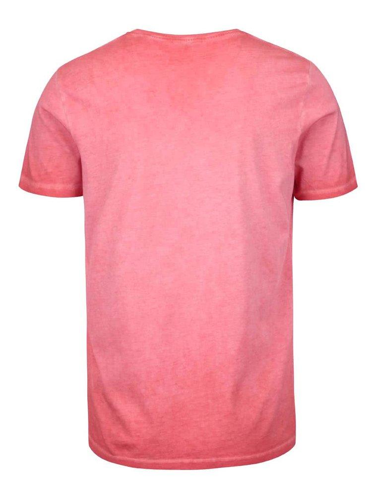 Červené pánske tričko s potlačou Pepe Jeans Battersea