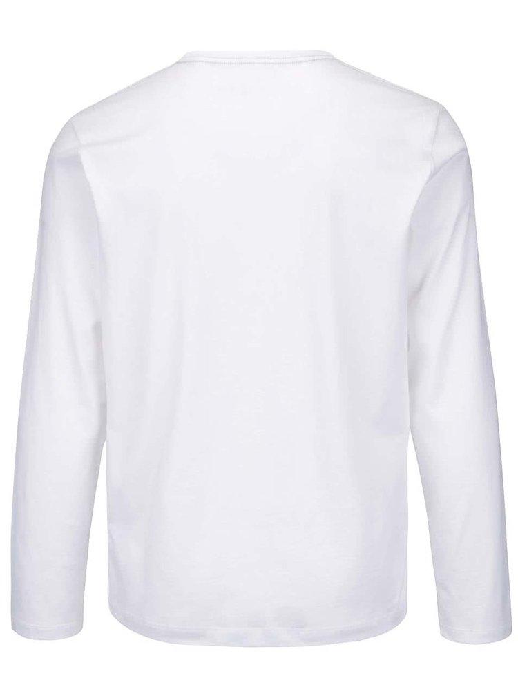 Biele pánske tričko s dlhým rukávom Pepe Jeans Eggo long