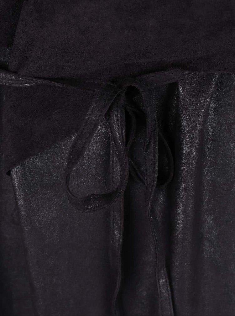 Černá delší vesta s páskem VILA Secret