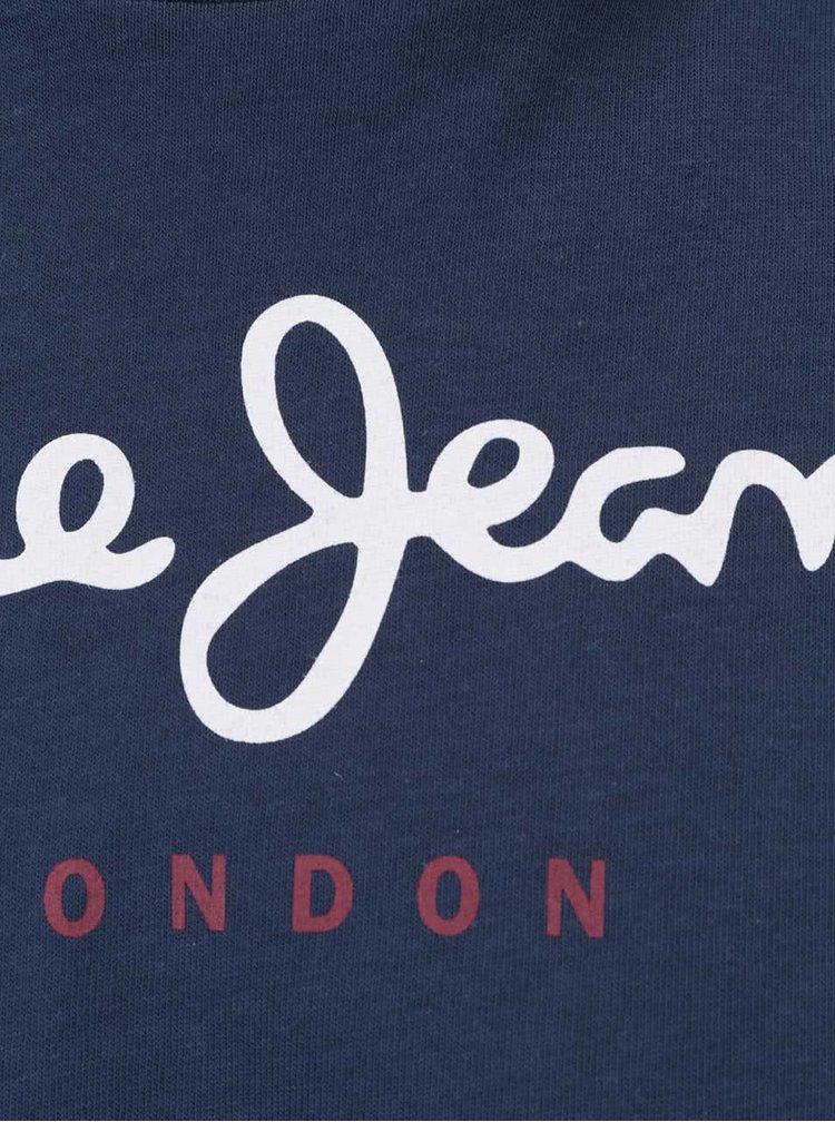 Tricou albastru inchis Pepe Jeans Eggo din bumbac