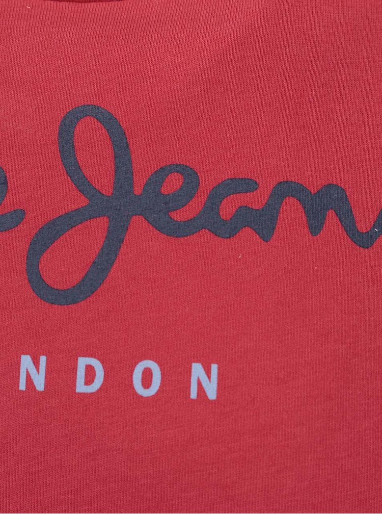Tricou roșu Pepe Jeans Eggo din bumbac