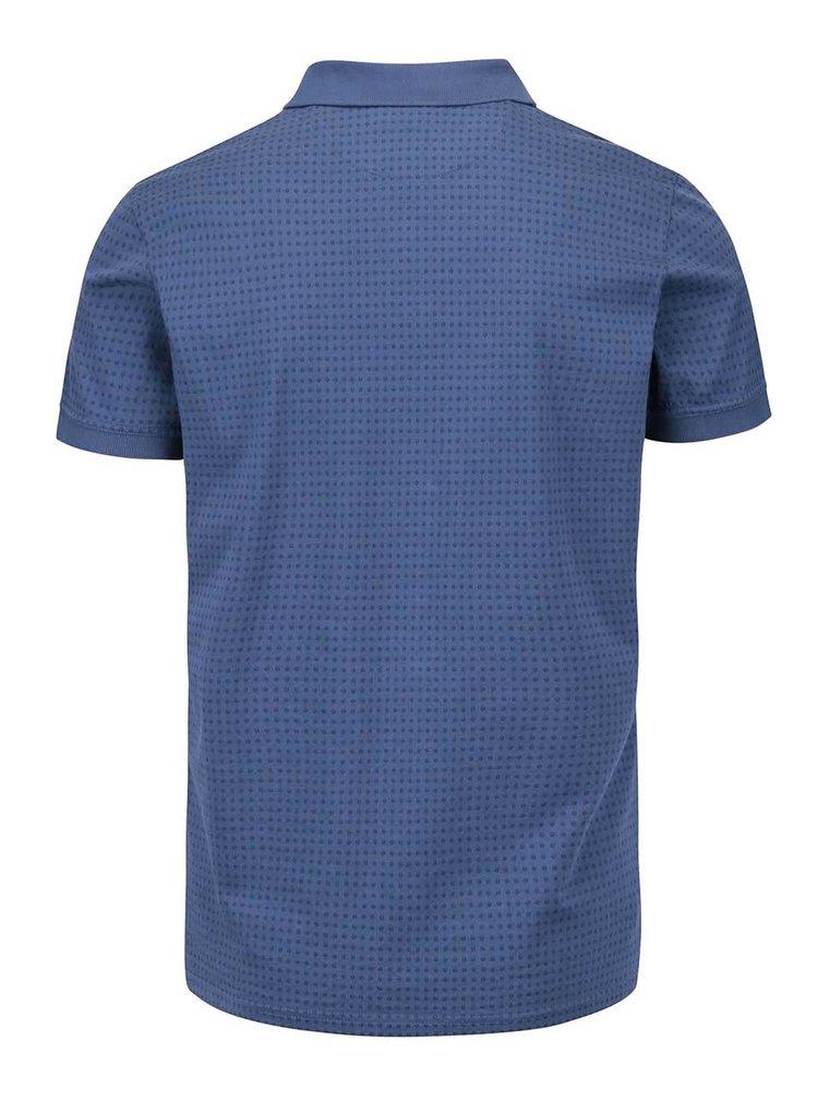 Modré pánské polo triko se vzorem Pepe Jeans Rhea