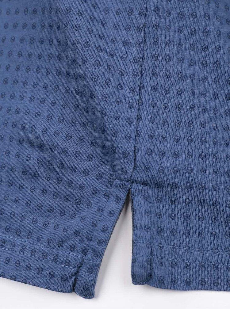 Tricou polo albastru Pepe Jeans Rhea din bumbac