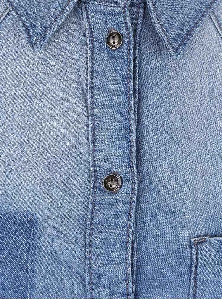 Cămașă albastră din denim ONLY Elin