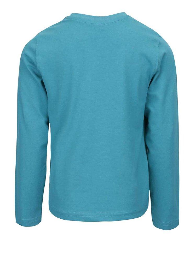 Tyrkysové chlapčenské tričko s dlhým rukávom name it Minions