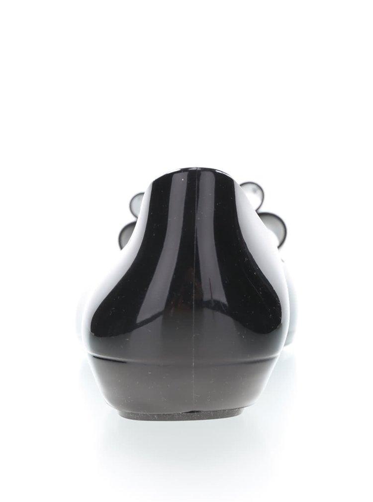 Čierne plastové balerínky s mašľou Zaxy Pop Bow