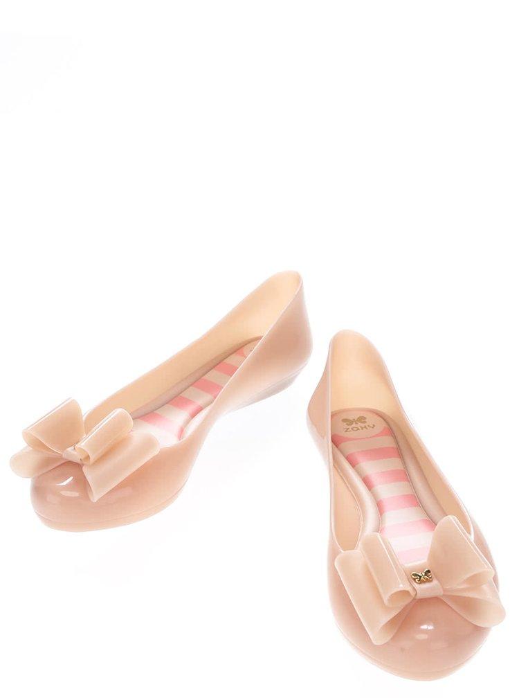 Balerini roz cu fundă Zaxy Pop Bow
