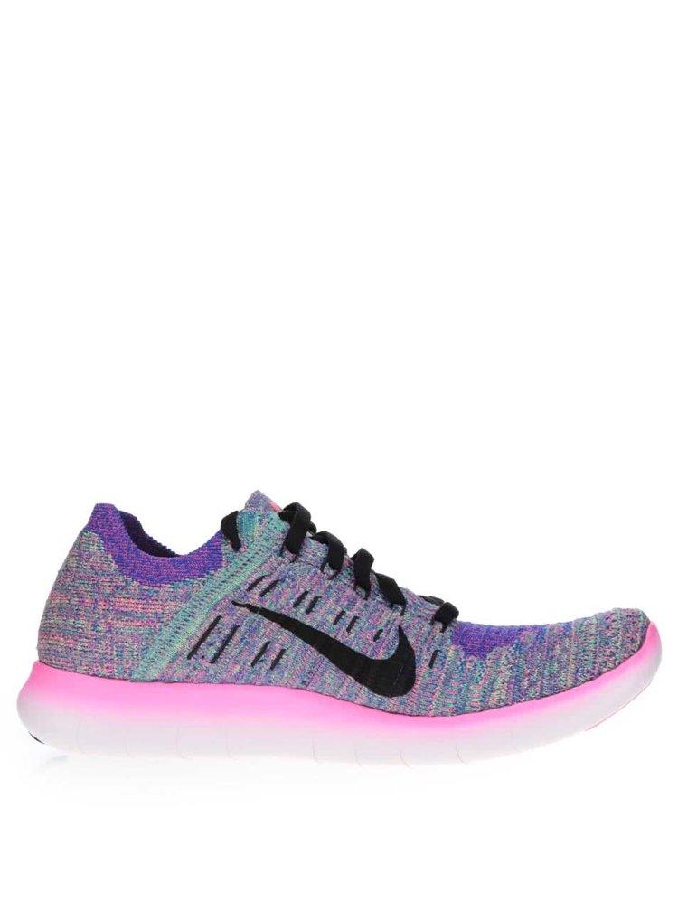 Pantofi sport multicolori Nike Free Flyknit cu model în dungi