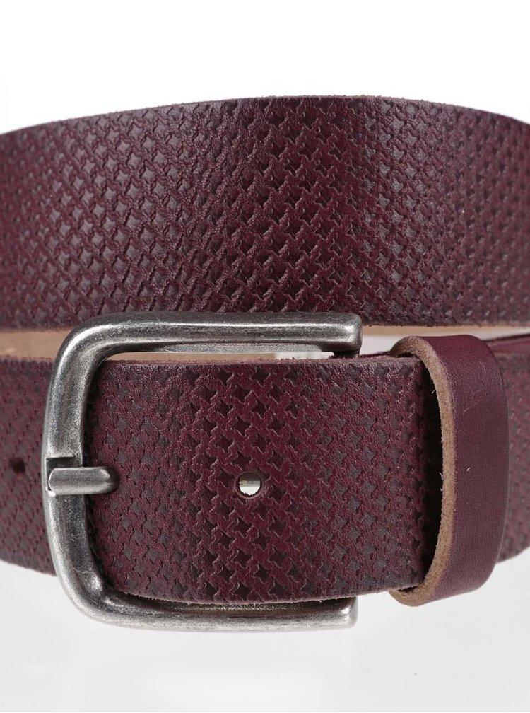 Hnedý pánsky kožený opasok so vzorom Pepe Jeans Massy