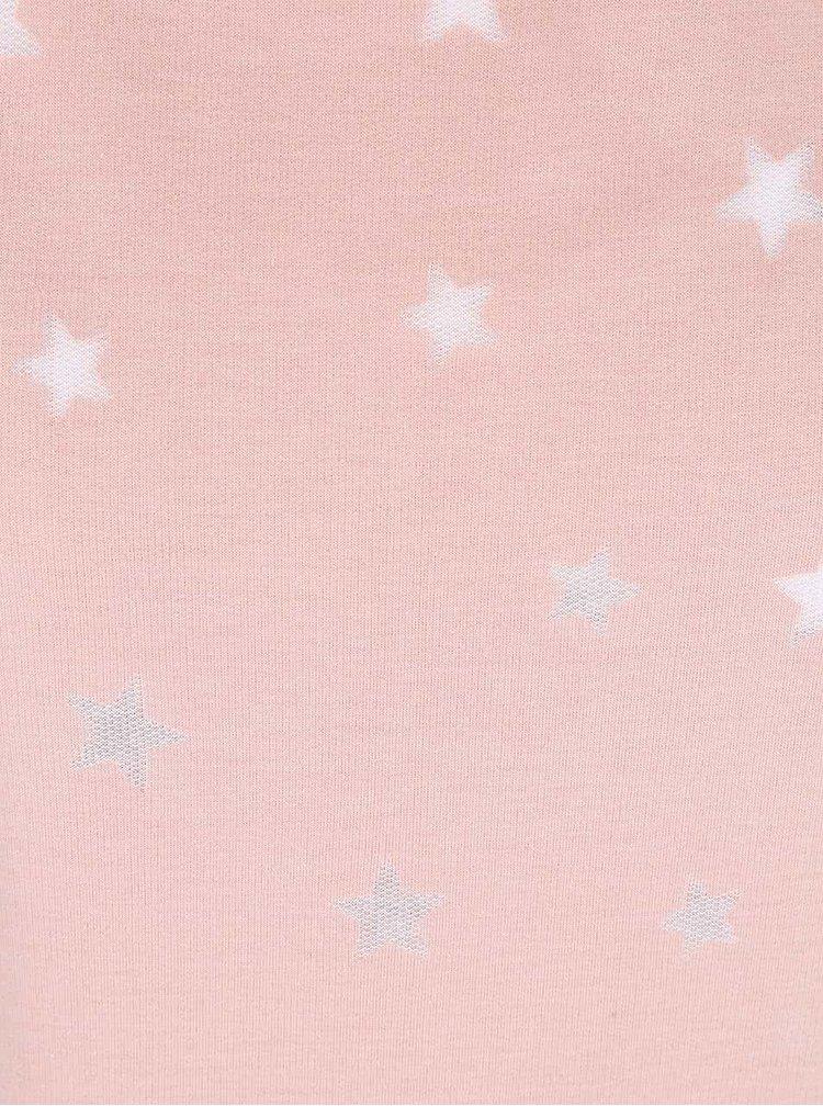 Starorůžová mikina s potiskem hvězd ONLY Christina