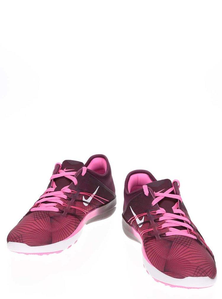Pantofi sport roz cu vișiniu Nike Free 6 Print pentru femei