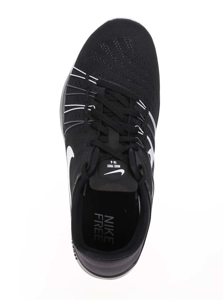 Pantofi sport negru cu alb Nike Free 6 pentru femei
