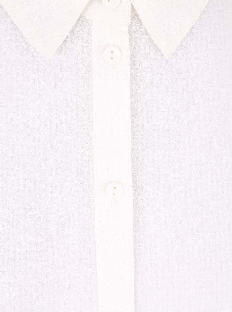 Krémová dlouhá košile s výstřihem na zádech ONLY Poet Radmila