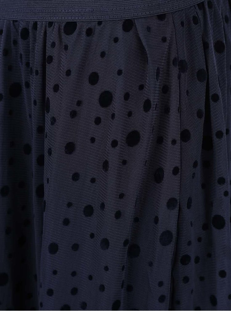 Tmavě modrá sukně s puntíky ONLY Lajka