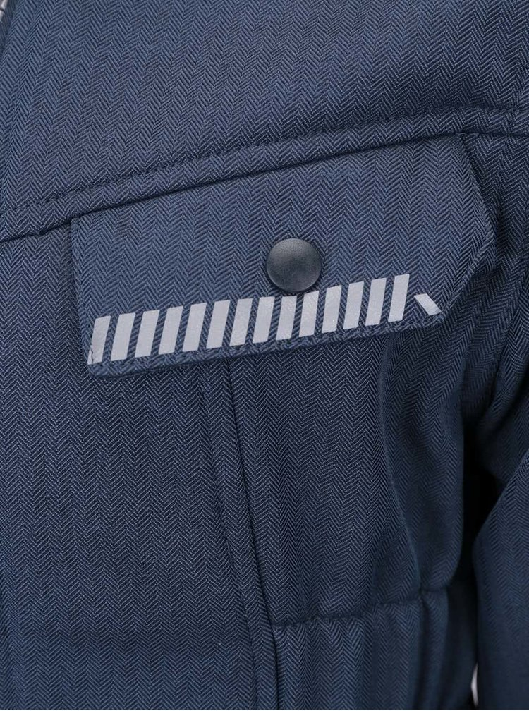 Tmavě modrá holčičí softshell bunda name it Alfa