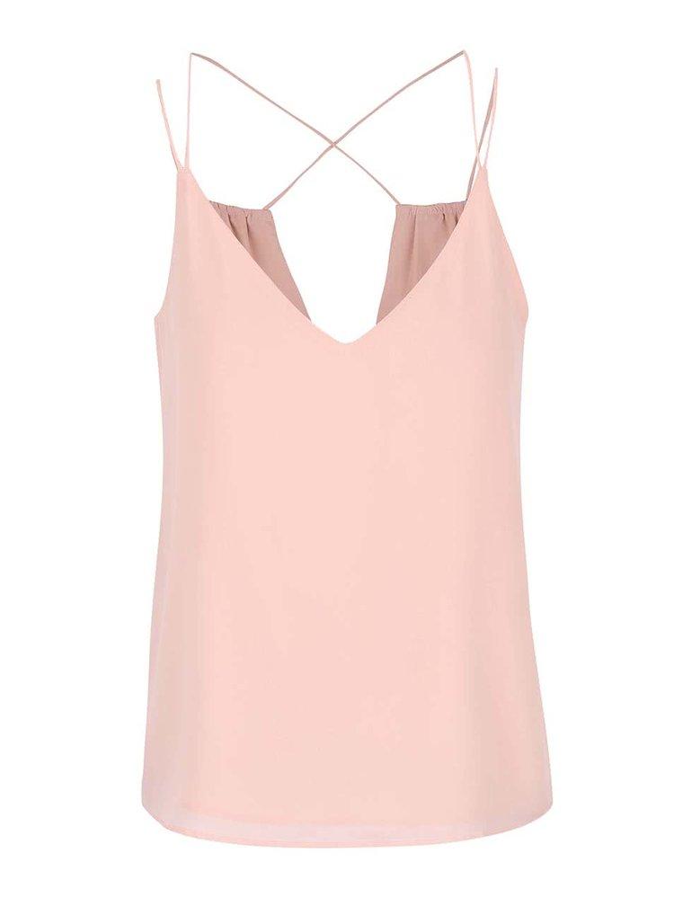 Top cu bretele subtiri ONLY Ayline roz