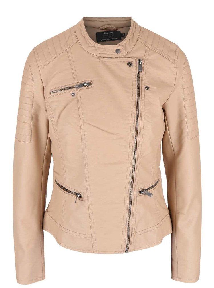 Béžová koženková bunda ONLY New Start