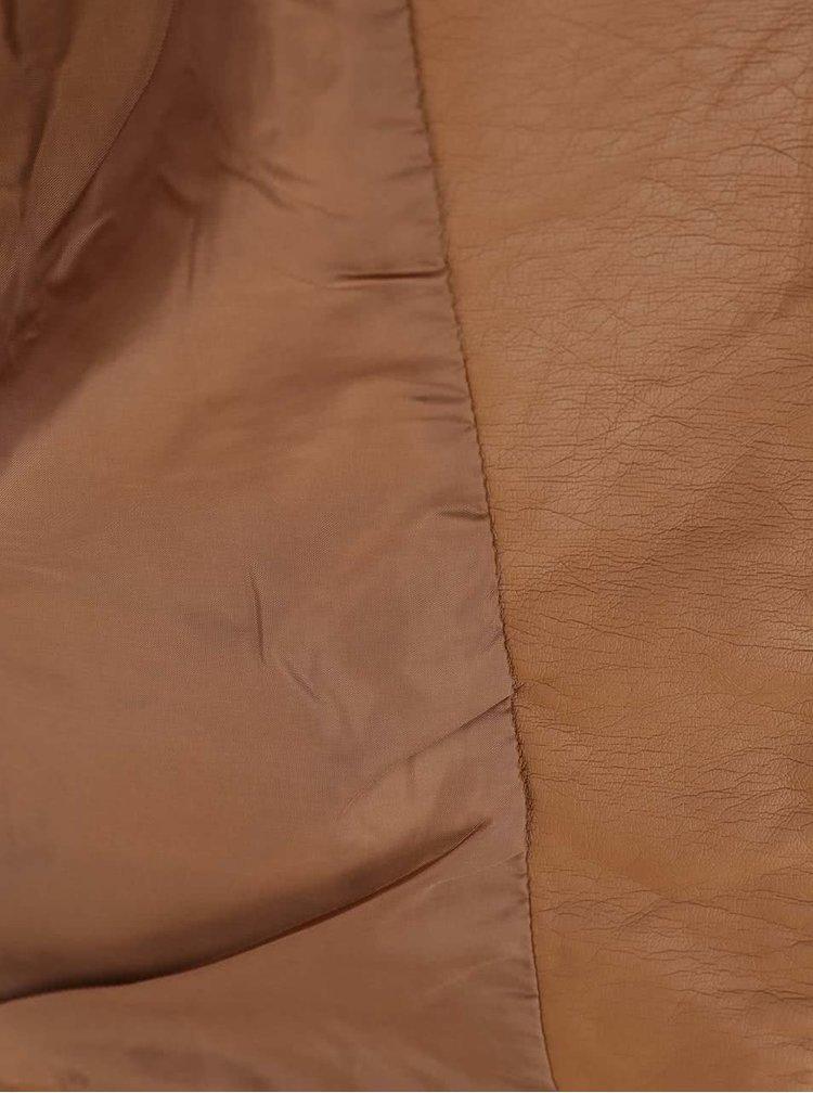 Hnědá koženková bunda ONLY New Start