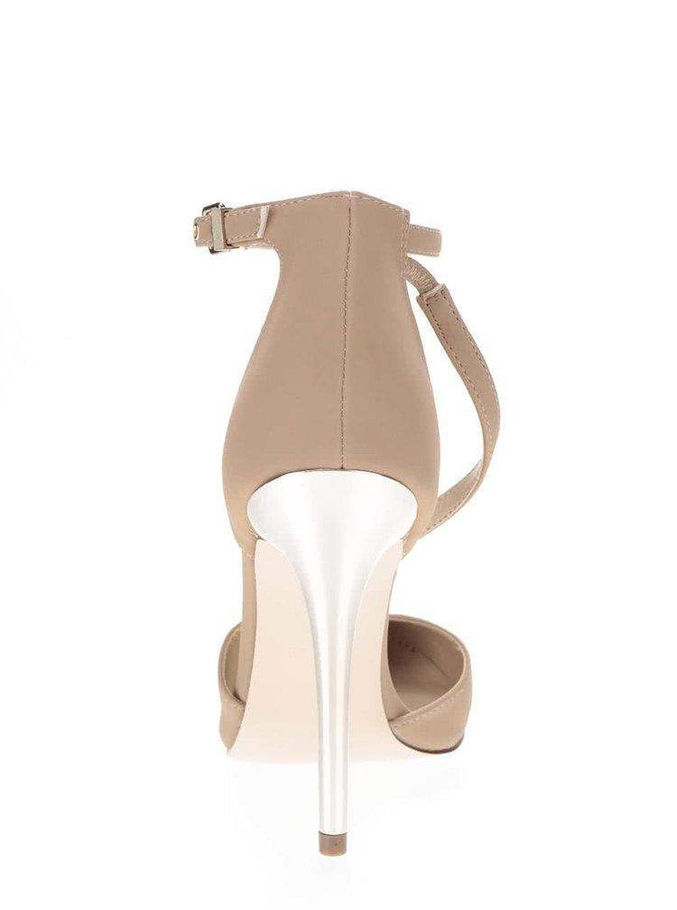 Béžové boty na jehlovém podpatku Miss Selfridge