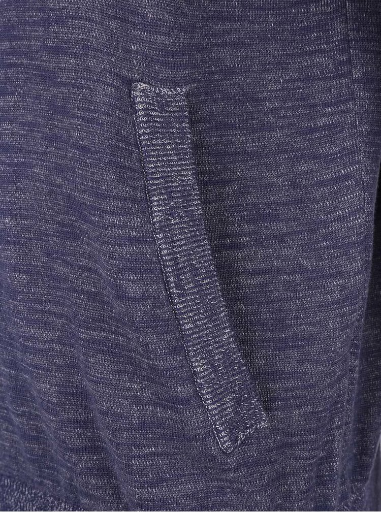 Modrá pánská žíhaná mikina na zip s.Oliver