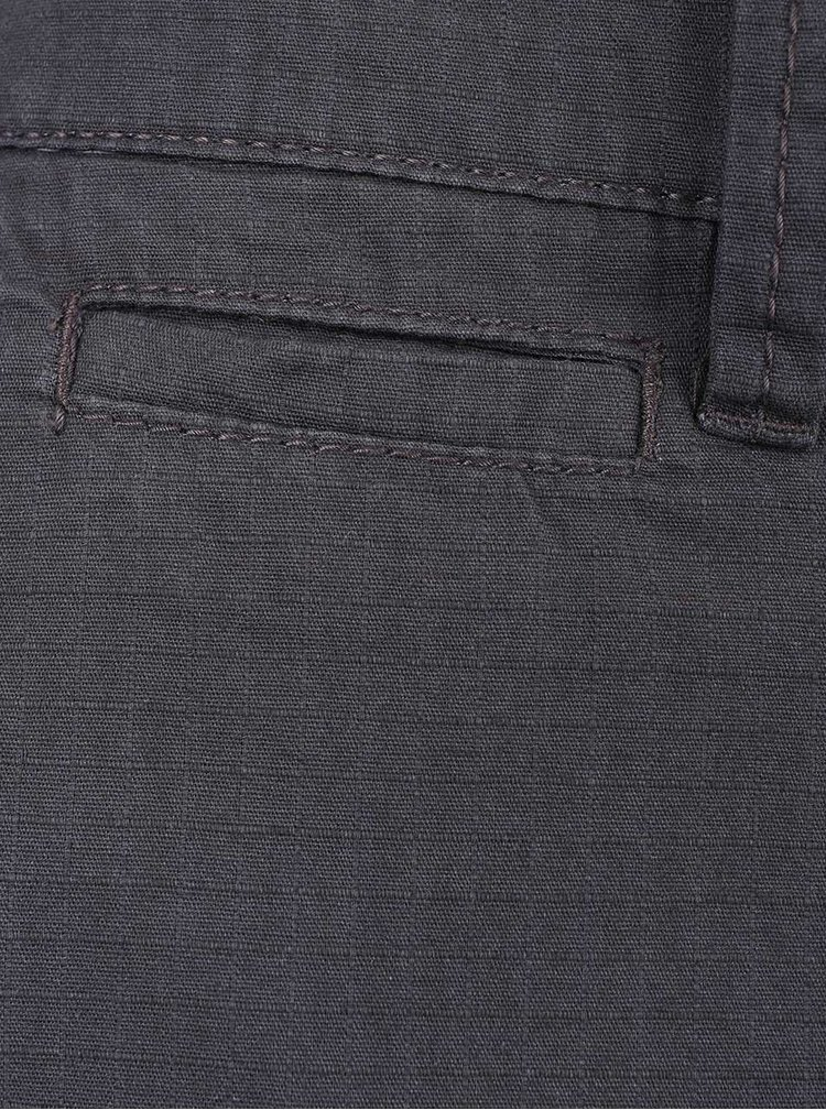 Tmavě šedé pánské kraťasy s kapsami s.Oliver