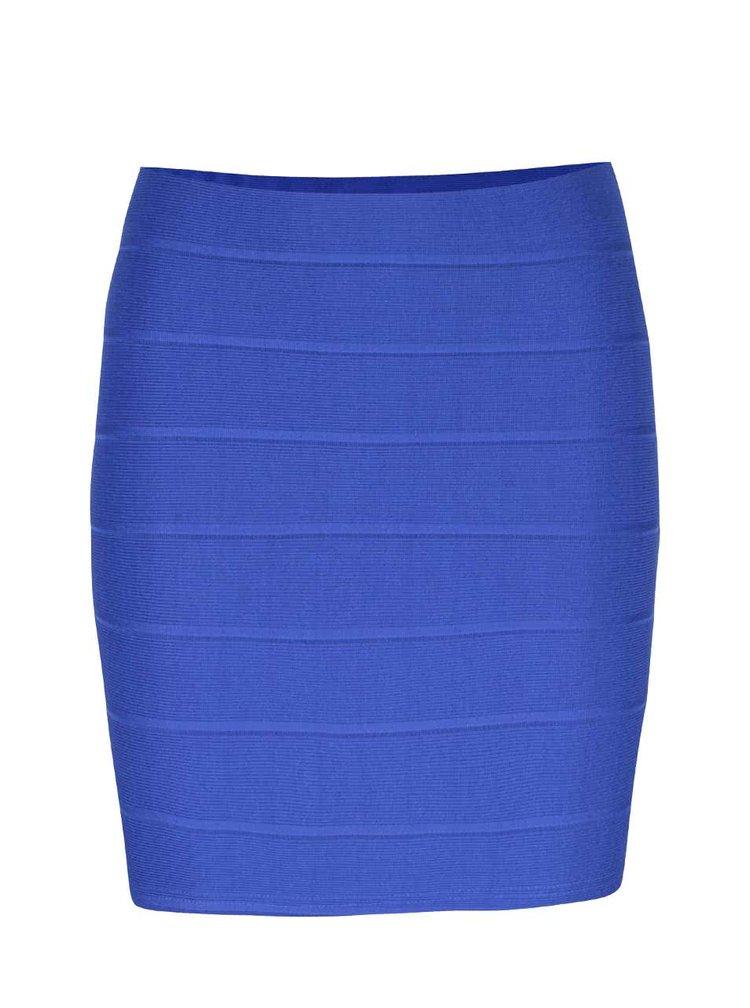 Modrá upnutá minisukně Miss Selfridge Petites