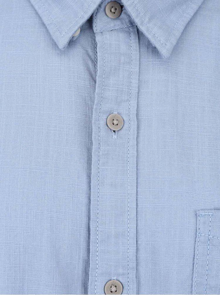 Cămașă albastră s.Oliver din bumbac cu mâneci scurte