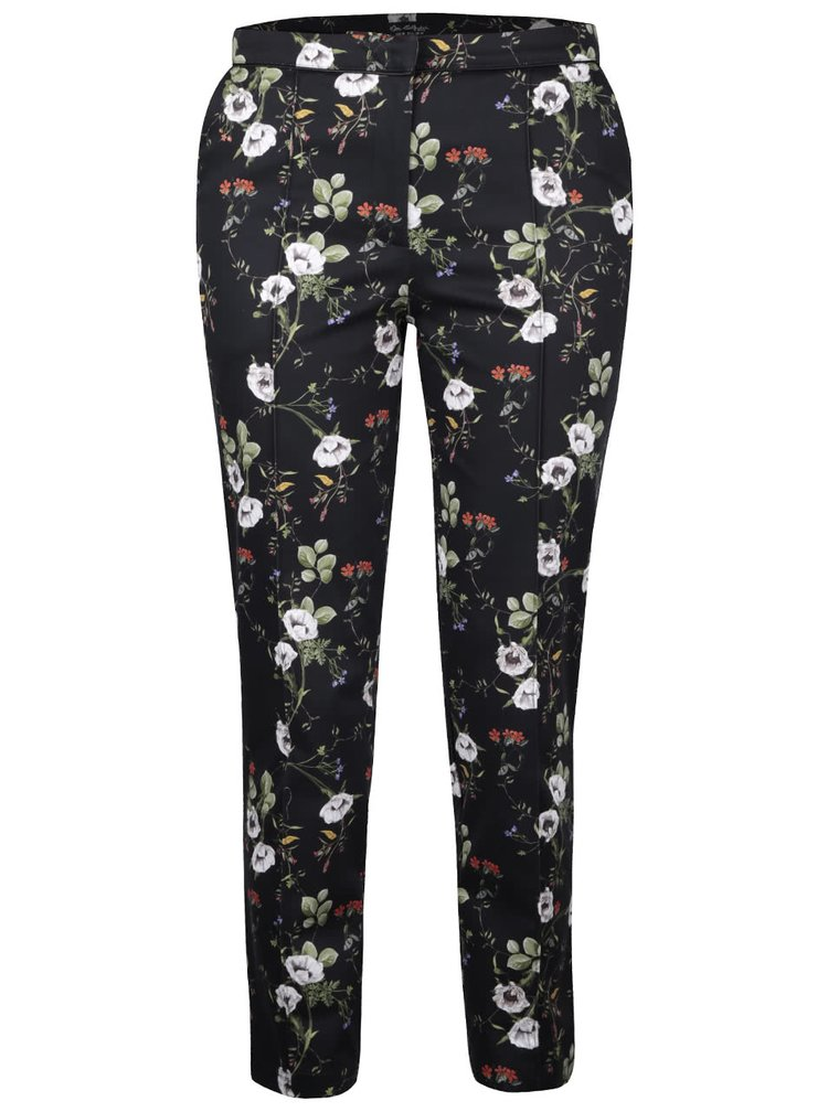 Pantaloni negri Miss Selfridge cu model floral