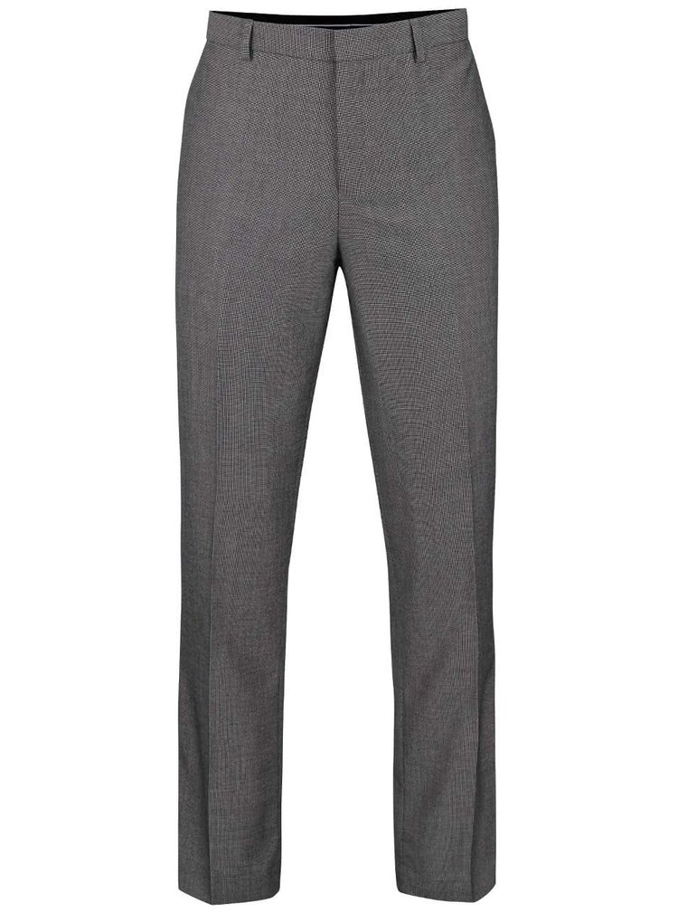 Pantaloni gri formal fit Burton Menswear London