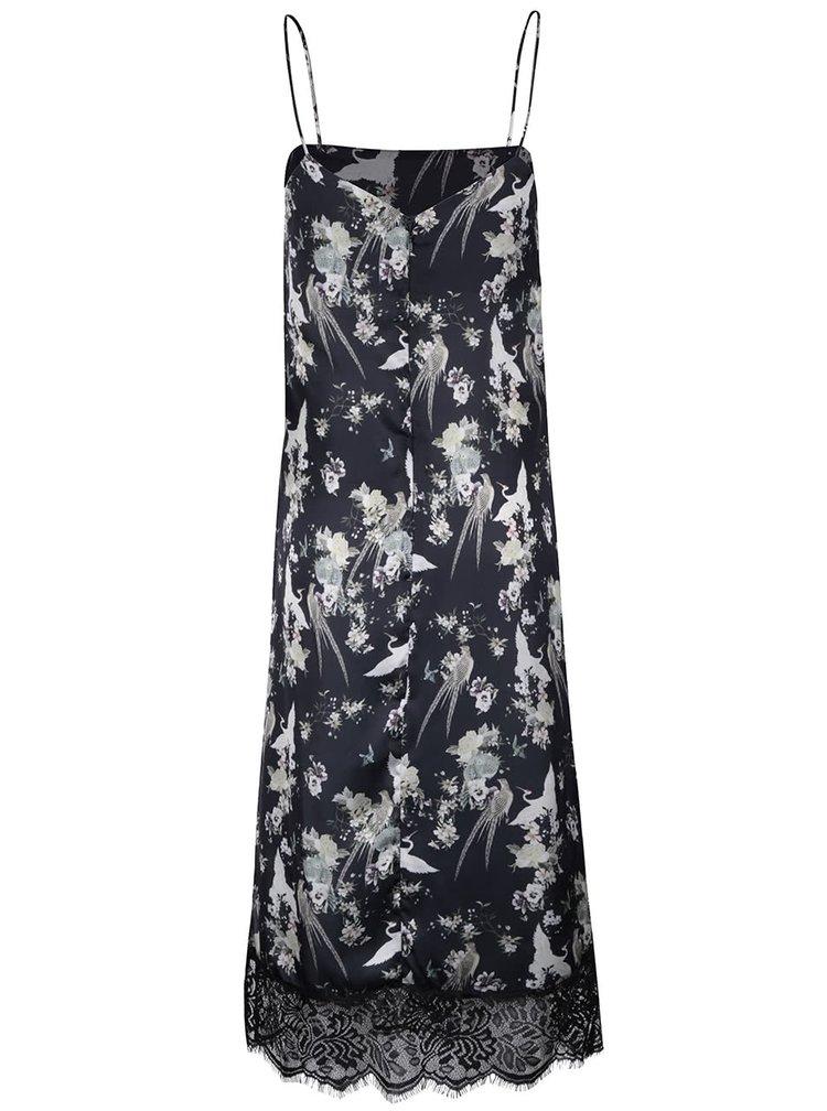 Rochie neagra cu print floral - Miss Selfridge