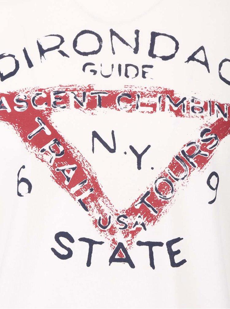 Krémové pánske tričko s dlhým rukávom s.Oliver