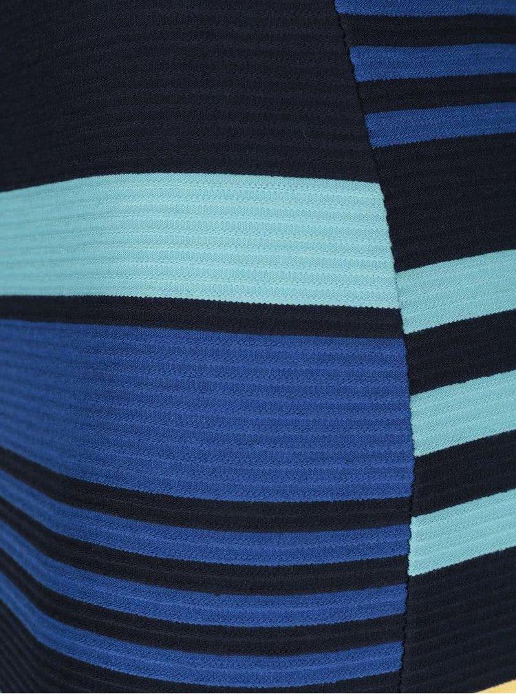 Černá elastická sukně s pruhy Miss Selfridge
