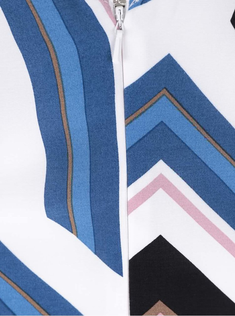 Modré vzorované delší šaty Miss Selfridge