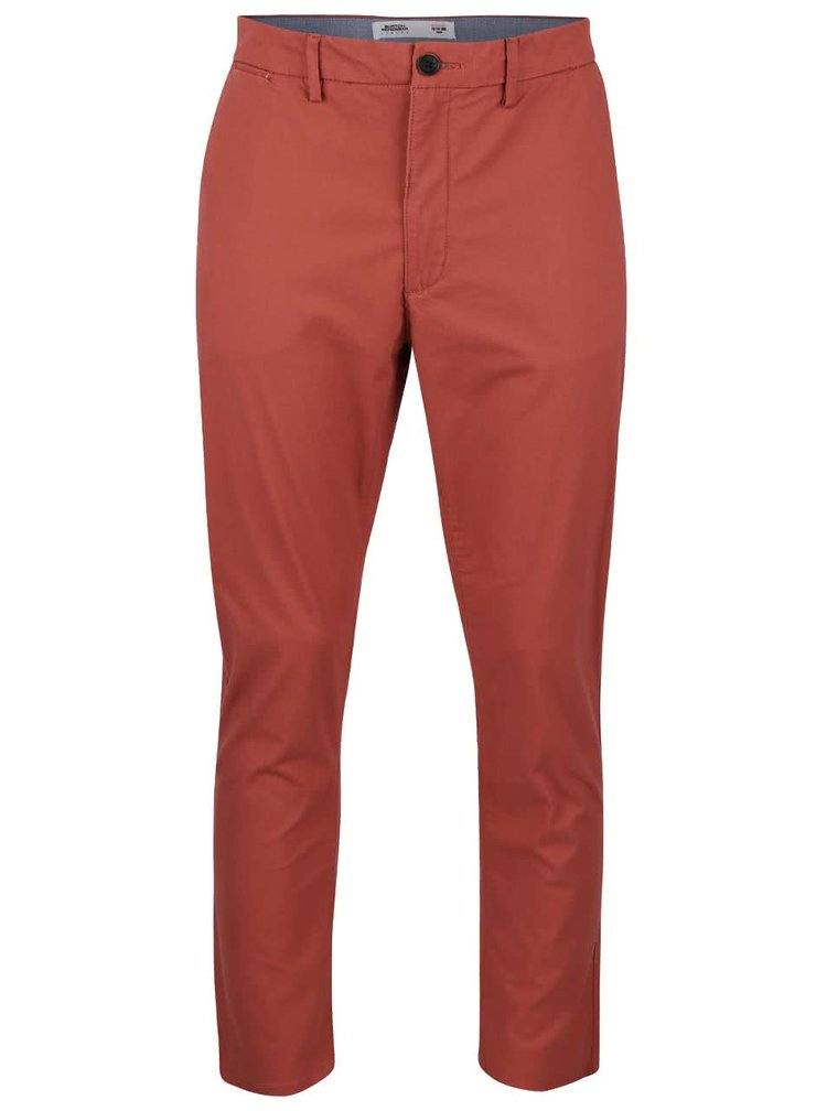 Pantaloni chinos cărămizii slim fit Burton Menswear London