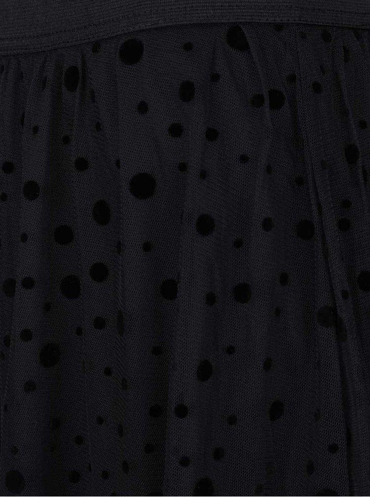 Fustă neagră cu buline ONLY Lajka
