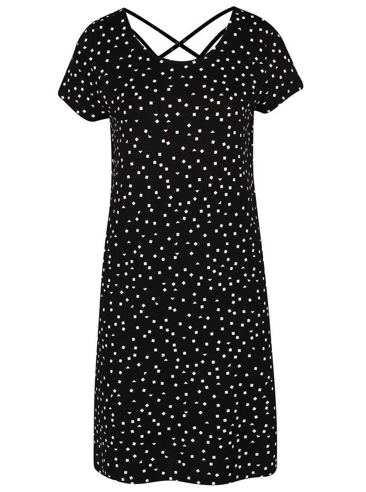 Čierne vzorované šaty ONLY Bera