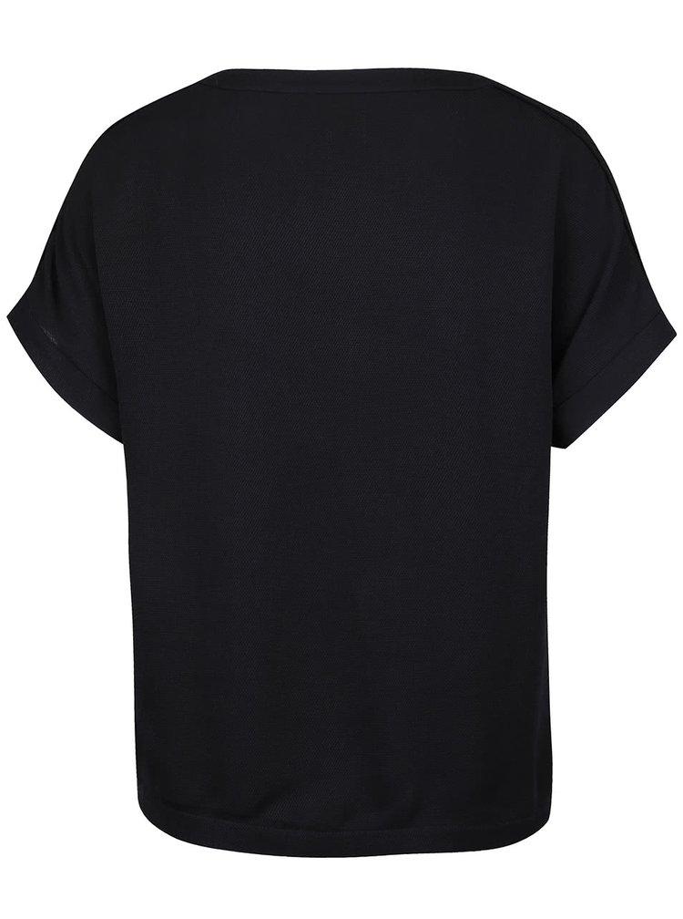 Tricou negru Miss Selfridge cu decolteu in V
