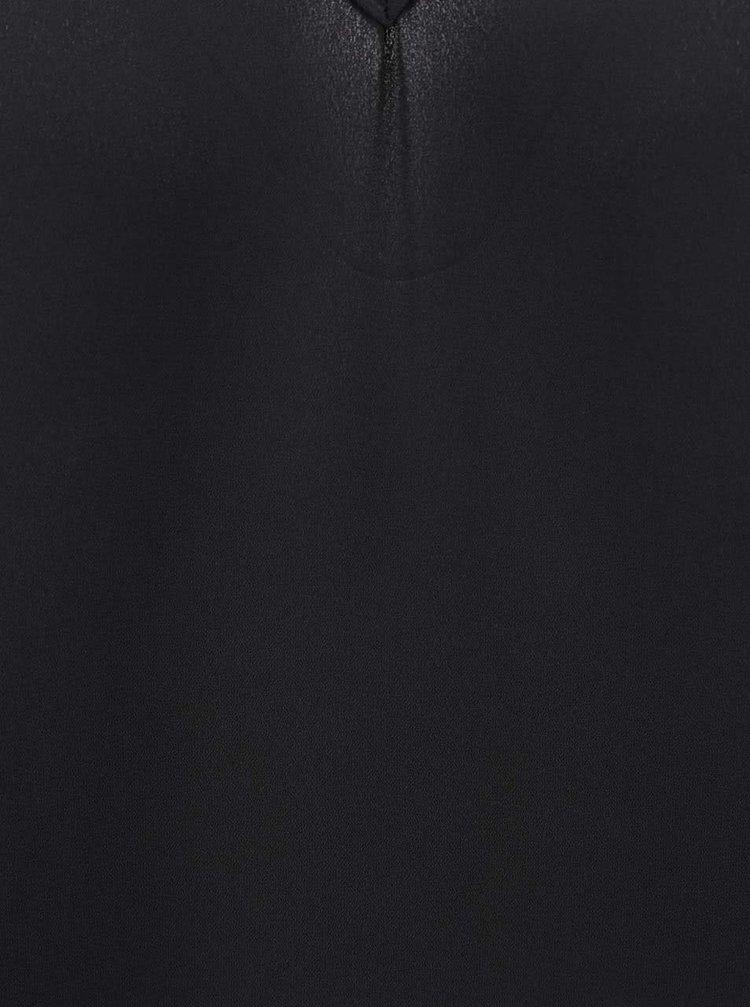 Top negru Miss Selfridge cu bretele subtiri