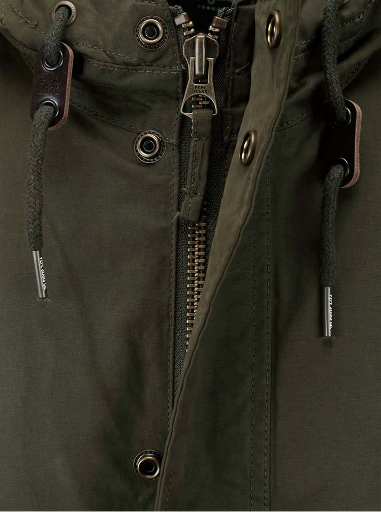 Tmavě zelená pánská bunda Pepe Jeans Weller