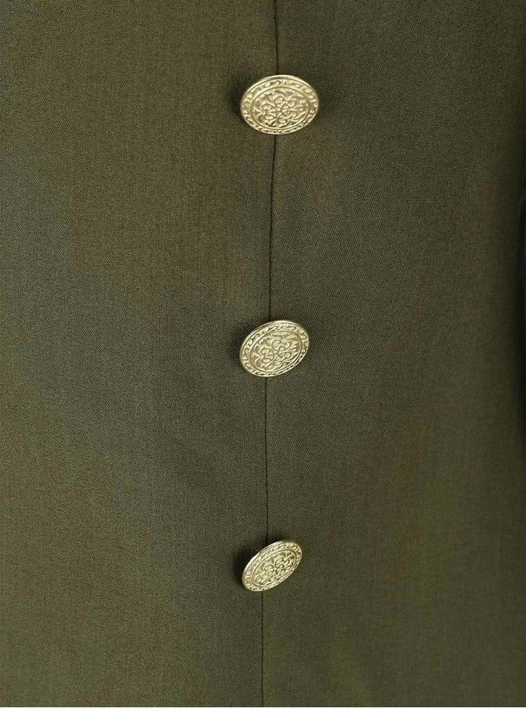 Kaki sako s gombíkmi v zlatej farbe VERO MODA Dana