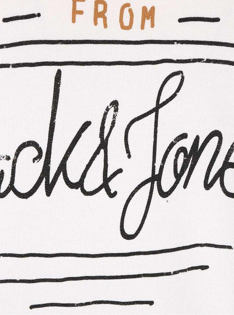 Krémová mikina s potlačou Jack & Jones Type
