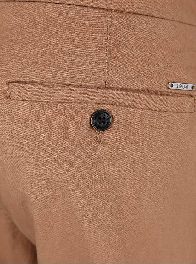 Světle hnědé slim chino kalhoty Burton Menswear London