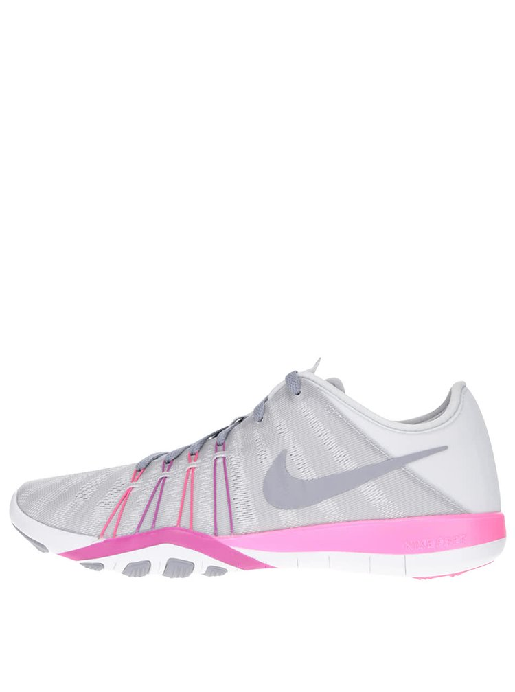 Sivo-ružové dámske tenisky Nike Free 7