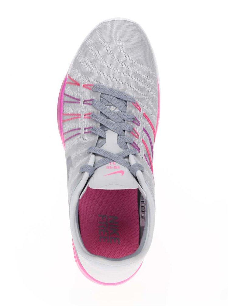 Pantofi sport gri cu roz Nike Free 7 pentru femei