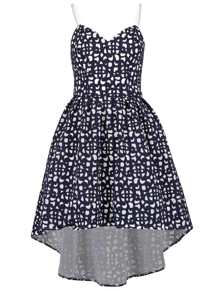 Krémovo-modré vzorované šaty Chi Chi London