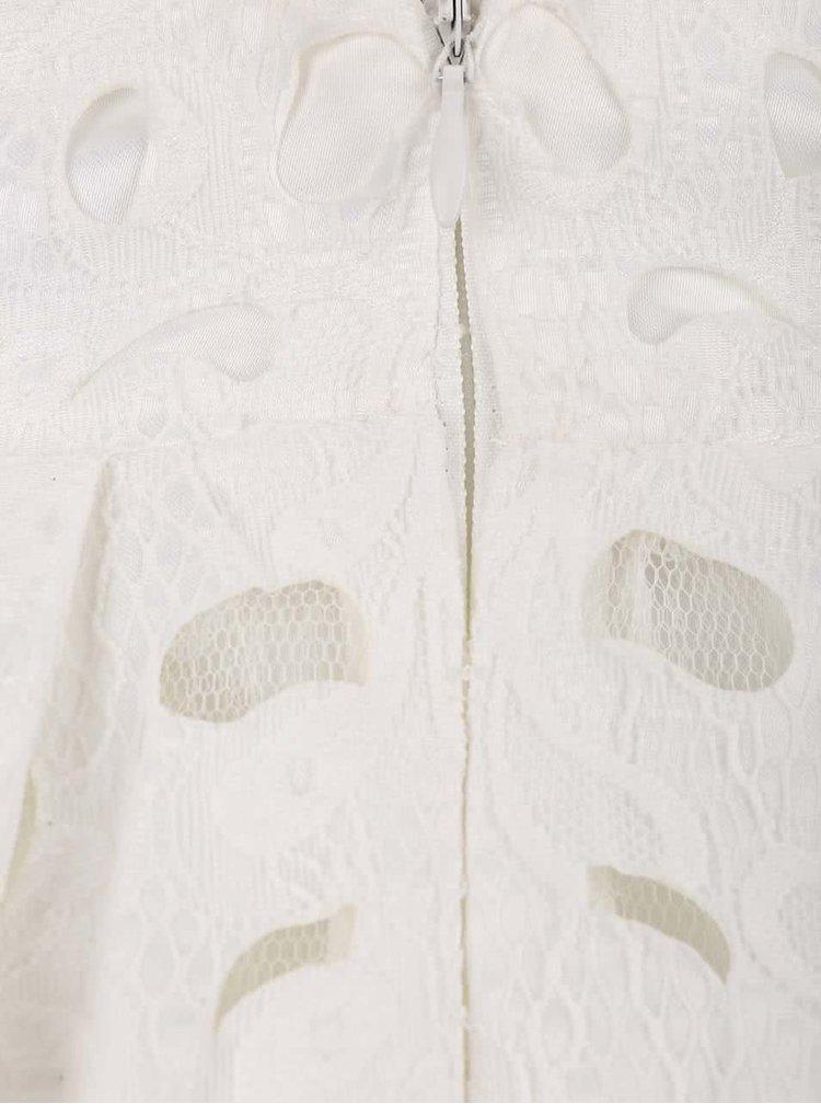 Krémové šaty s vypalovanou krajkou Chi Chi London Iona