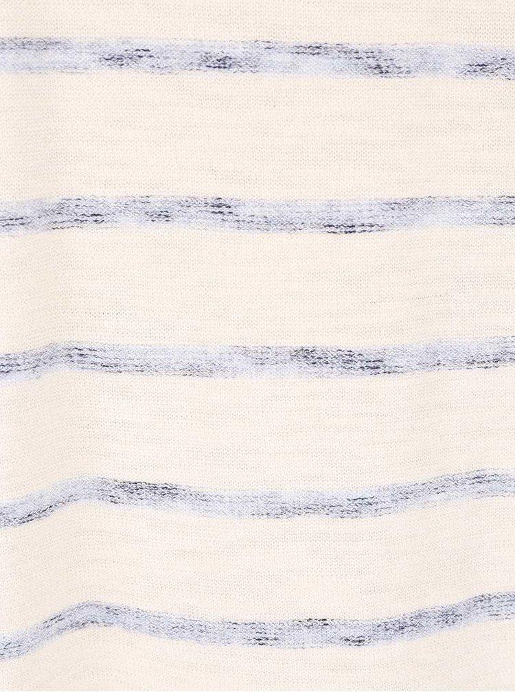 Bluza crem cu dungi bleumarin din bumbac Jack & Jones Derrick