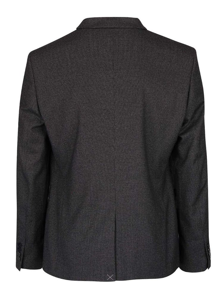 Sacou gri-inchis skinny fit Burton Menswear London
