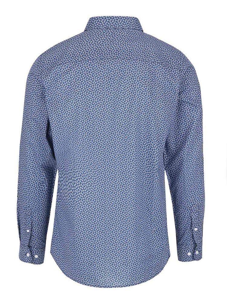Tmavě modrá vzorovaná slim-fit košile Jack & Jones Newcastle
