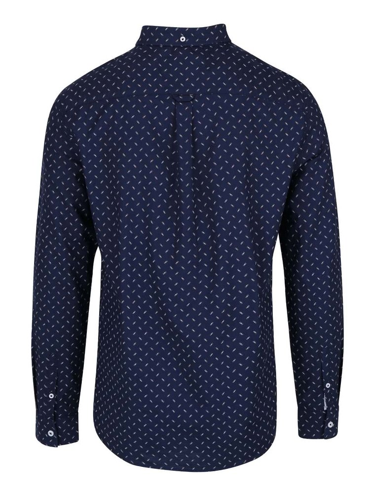 Cămașă bleumarin Burton Menswear London cu model